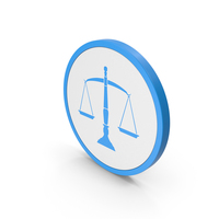 Icon Scales Of Justice Blue PNG & PSD Images