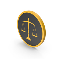 Icon Scales Of Justice Yellow PNG & PSD Images