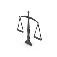 Symbol Scales Of Justice Black PNG & PSD Images
