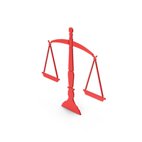 Symbol Scales Of Justice Red PNG & PSD Images