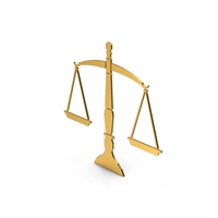 Symbol Scales Of Justice Gold PNG & PSD Images