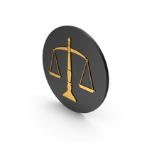 Scales Of Justice Gold Icon PNG & PSD Images
