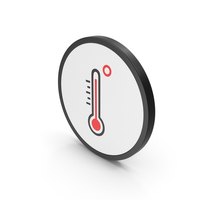 Icon Thermometer High Temperature PNG & PSD Images