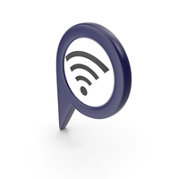 Location Sign Wifi Dark Blue PNG & PSD Images