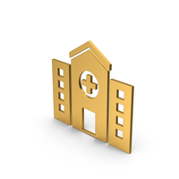 Symbol Hospital Gold PNG & PSD Images