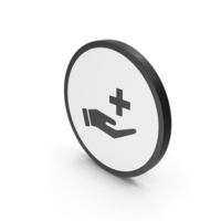 Icon Medical Cross In Hand PNG & PSD Images