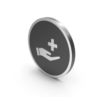 Silver Icon Medical Cross In Hand PNG & PSD Images