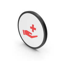 Icon Medical Cross In Hand Red PNG & PSD Images