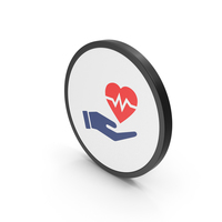Icon Medical Heart In Hand Red PNG & PSD Images