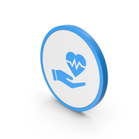 Icon Medical Heart In Hand Blue PNG & PSD Images