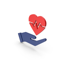 Symbol Medical Heart In Hand Red PNG & PSD Images