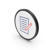 Icon Document With Pen Colored PNG & PSD Images