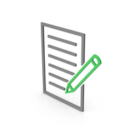 Symbol Document Paper With Pen PNG & PSD Images