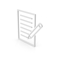 Symbol Document With Pen PNG & PSD Images