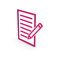Symbol Document With Pen Metallic PNG & PSD Images