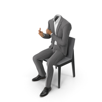 Chair Fuck Suit Grey PNG & PSD Images