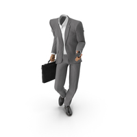 Posing Bag Phone Suit Grey PNG & PSD Images