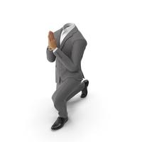 Praying Suit Grey PNG & PSD Images