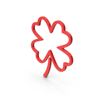 Symbol Clover Red PNG & PSD Images