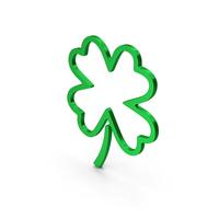 Symbol Clover Green Metallic PNG & PSD Images