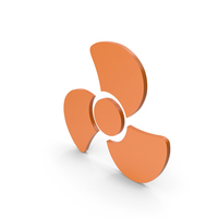 Fan Icon Orange PNG & PSD Images