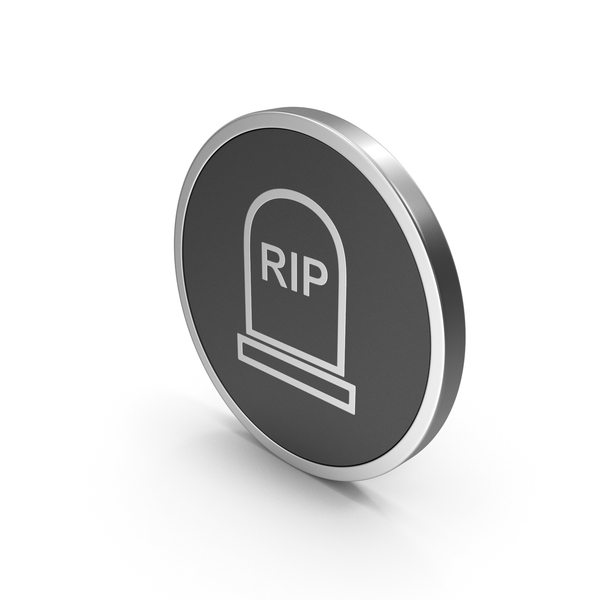 Silver Icon Grave Rip PNG & PSD Images