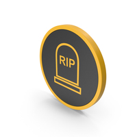 Icon Grave Rip Yellow PNG & PSD Images