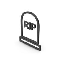 Symbol Grave Rip Black PNG & PSD Images