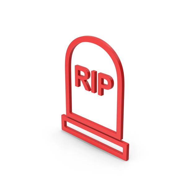 Symbol Grave Rip Red PNG & PSD Images