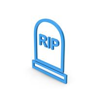 Symbol Grave Rip Blue PNG & PSD Images