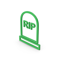 Symbol Grave Rip Green PNG & PSD Images