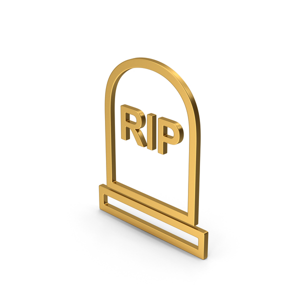 Symbol Grave Rip Gold PNG & PSD Images