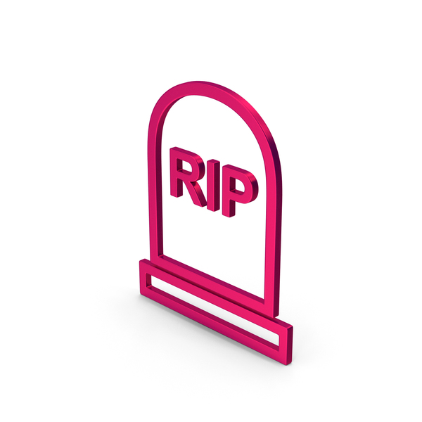 Symbol Grave Rip Metallic PNG & PSD Images