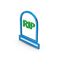 Symbol Grave Rip Colored Metallic PNG & PSD Images