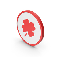 Icon Clover Red PNG & PSD Images