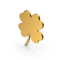 Symbol Clover Gold PNG & PSD Images