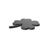 Black Symbol Clover PNG & PSD Images