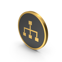 Gold Icon Hierarchical Organization PNG & PSD Images