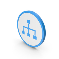 Icon Hierarchical Organization Blue PNG & PSD Images