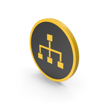 Icon Hierarchical Organization Yellow PNG & PSD Images