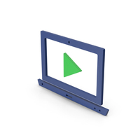 Symbol Notebook With Play Button Colored PNG & PSD Images