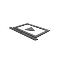 Black Symbol Notebook With Play Button PNG & PSD Images