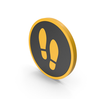 Icon Shoe Footprint Yellow PNG & PSD Images