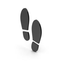 Symbol Shoe Footprint Black PNG & PSD Images