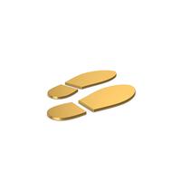 Gold Symbol Shoe Footprint PNG & PSD Images