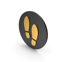 Shoe Footprint Gold Icon PNG & PSD Images