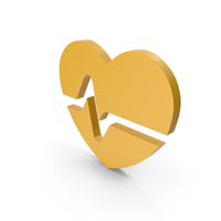 Heart Yellow Icon PNG & PSD Images