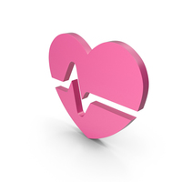 Heart Pink Icon PNG & PSD Images