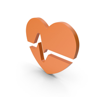 Heart Orange Icon PNG & PSD Images