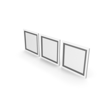 White Framed Paintings with Black Border PNG & PSD Images